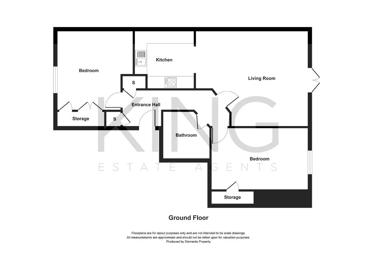 Floorplan for Ascot House, Milton Keynes, Buckinghamshire, MK9 3LZ