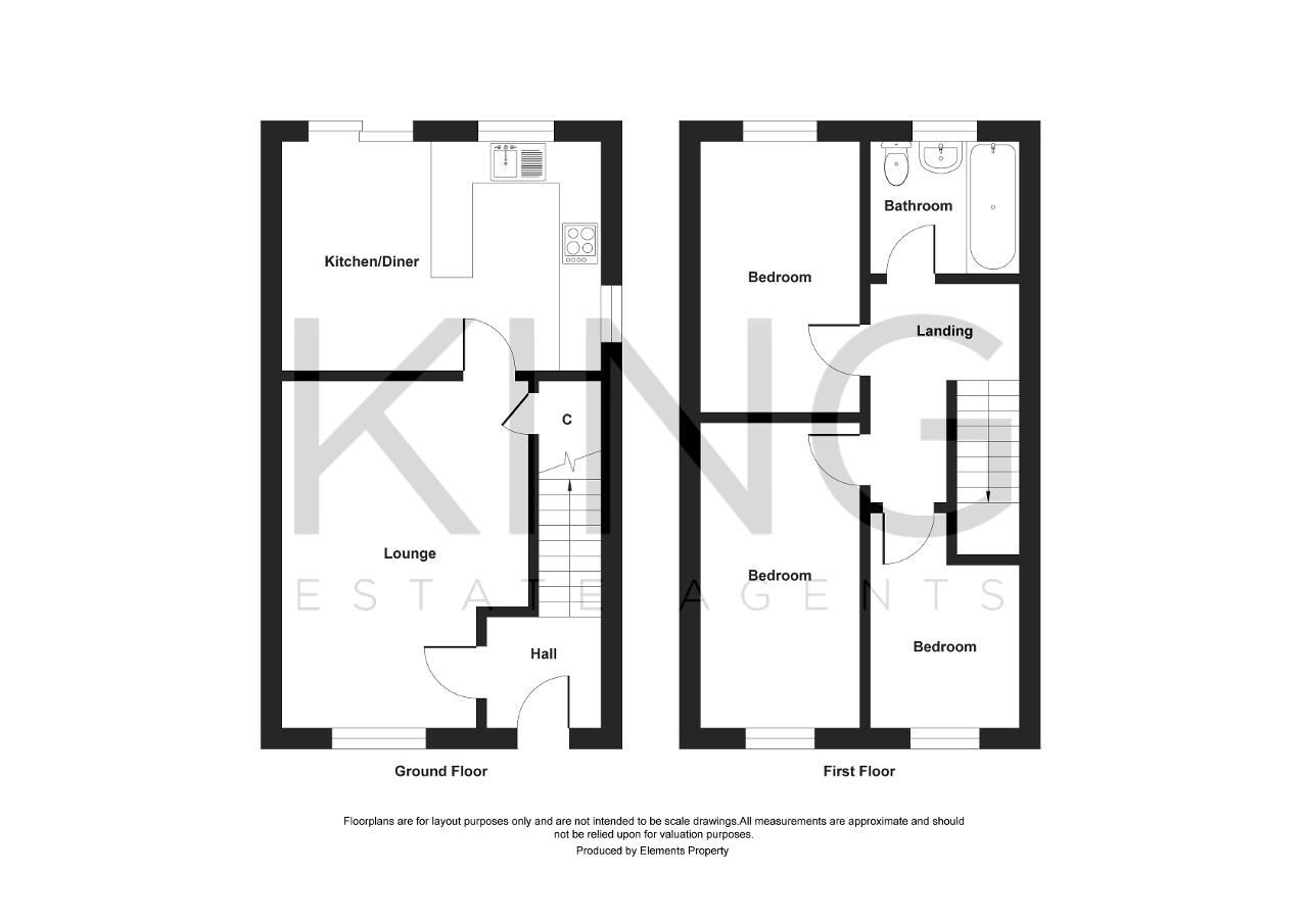Floorplan for Cleveland, Bradville, Milton Keynes, Buckinghamshire, MK13 7BA