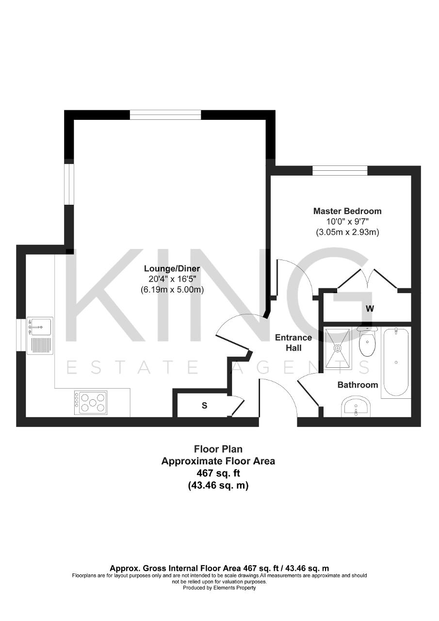 Floorplan for Stanwyck Lane, Oxley Park, Milton Keynes, Buckinghamshire, MK4 4EB