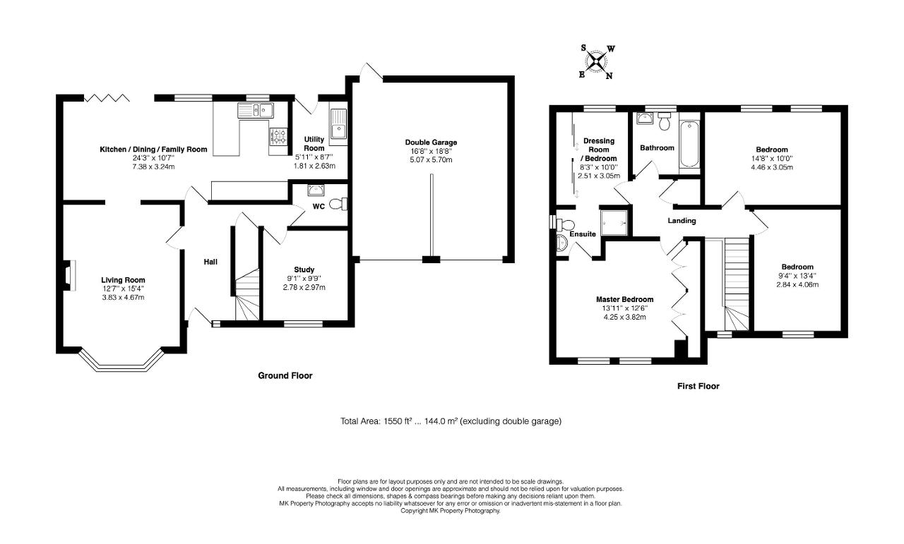 Floorplan for Great Linch, Middleton, Milton Keynes, Buckinhamshire, MK10 9BF