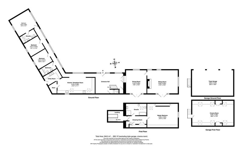 Floorplan for Hereford Court, Preston Deanery, Northamptonshire, NN7 2DS