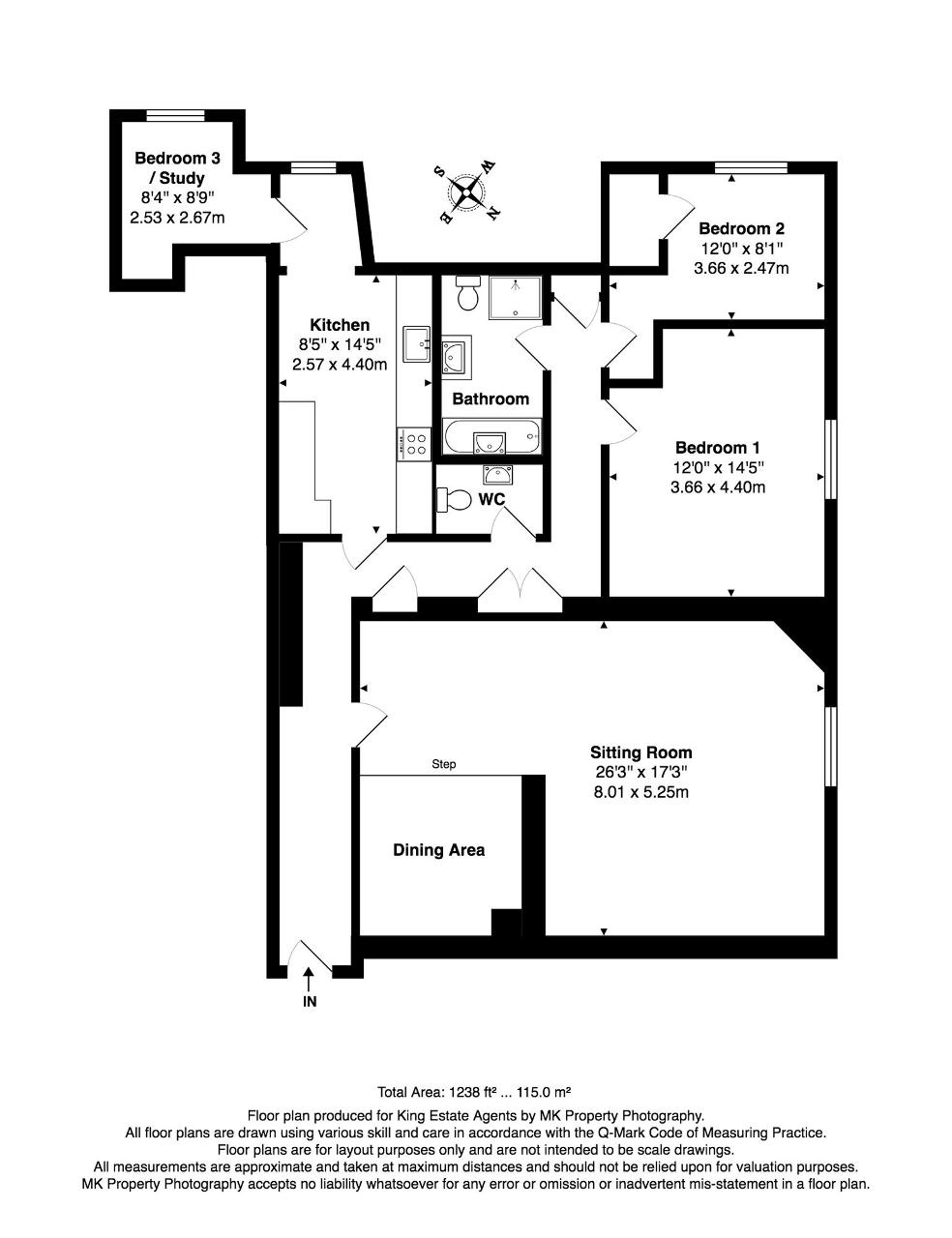 Floorplan for Gayhurst Court, Gayhurst, Newport Pagnell, MK16 8LG