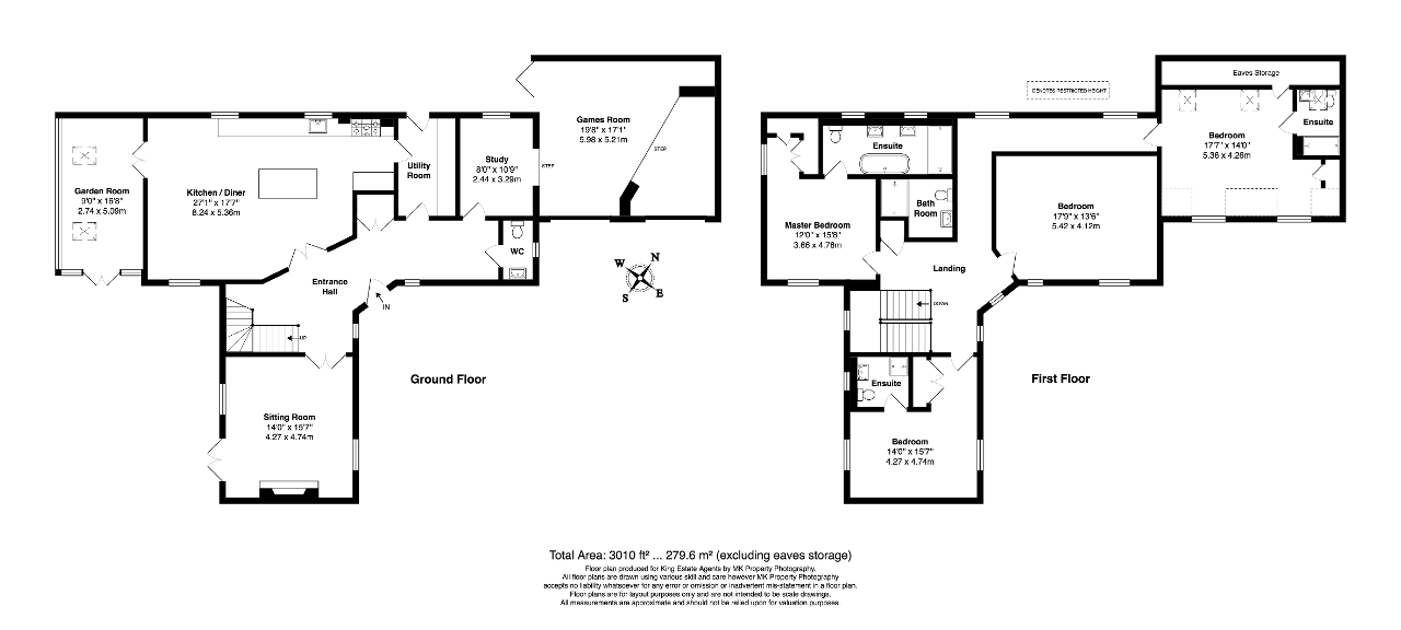 Floorplan for Cuckoo Hill Rise, Hanslope, Milton Keynes, Buckinghamshire, MK19 7HT