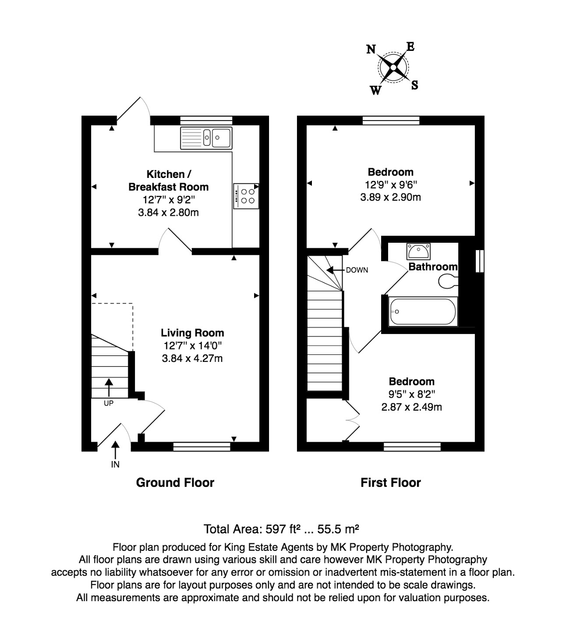 Floorplan for Bernstein Close, Browns Wood, Milton Keynes, Buckinghamshire, MK7 8EH