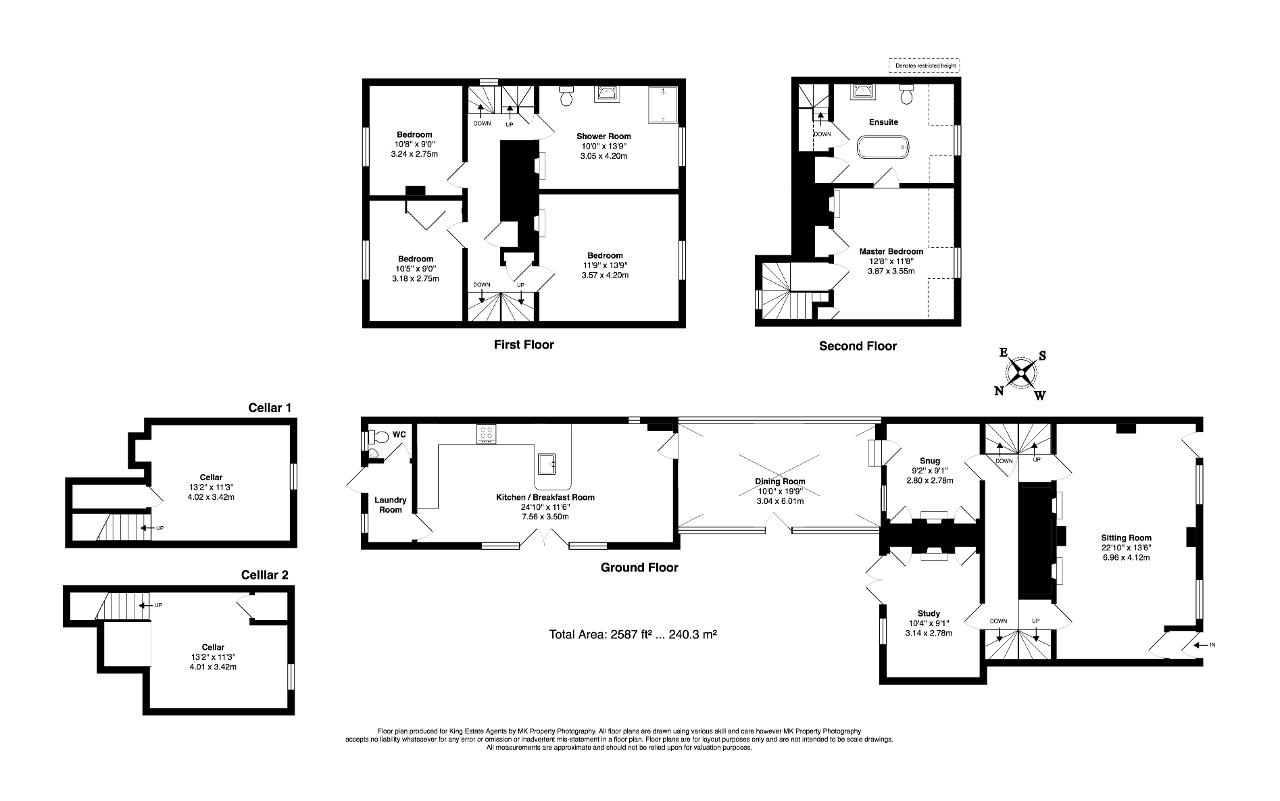 Floorplan for Bedford Street, Woburn, Milton Keynes, Bedfordshire, MK17 9QB