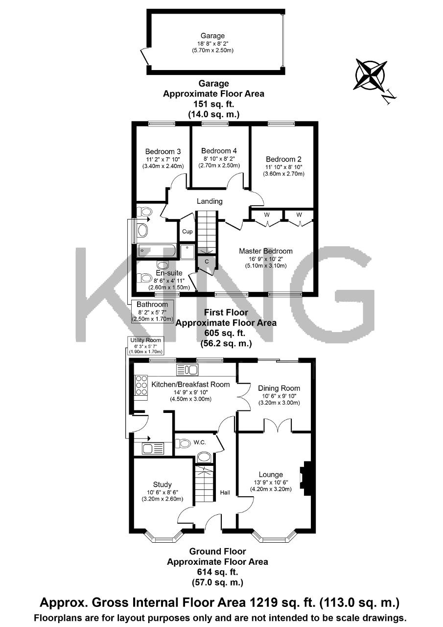 Floorplan for Wickstead Avenue, Grange Farm, Milton Keynes, Buckinghamshire, MK8 0NW