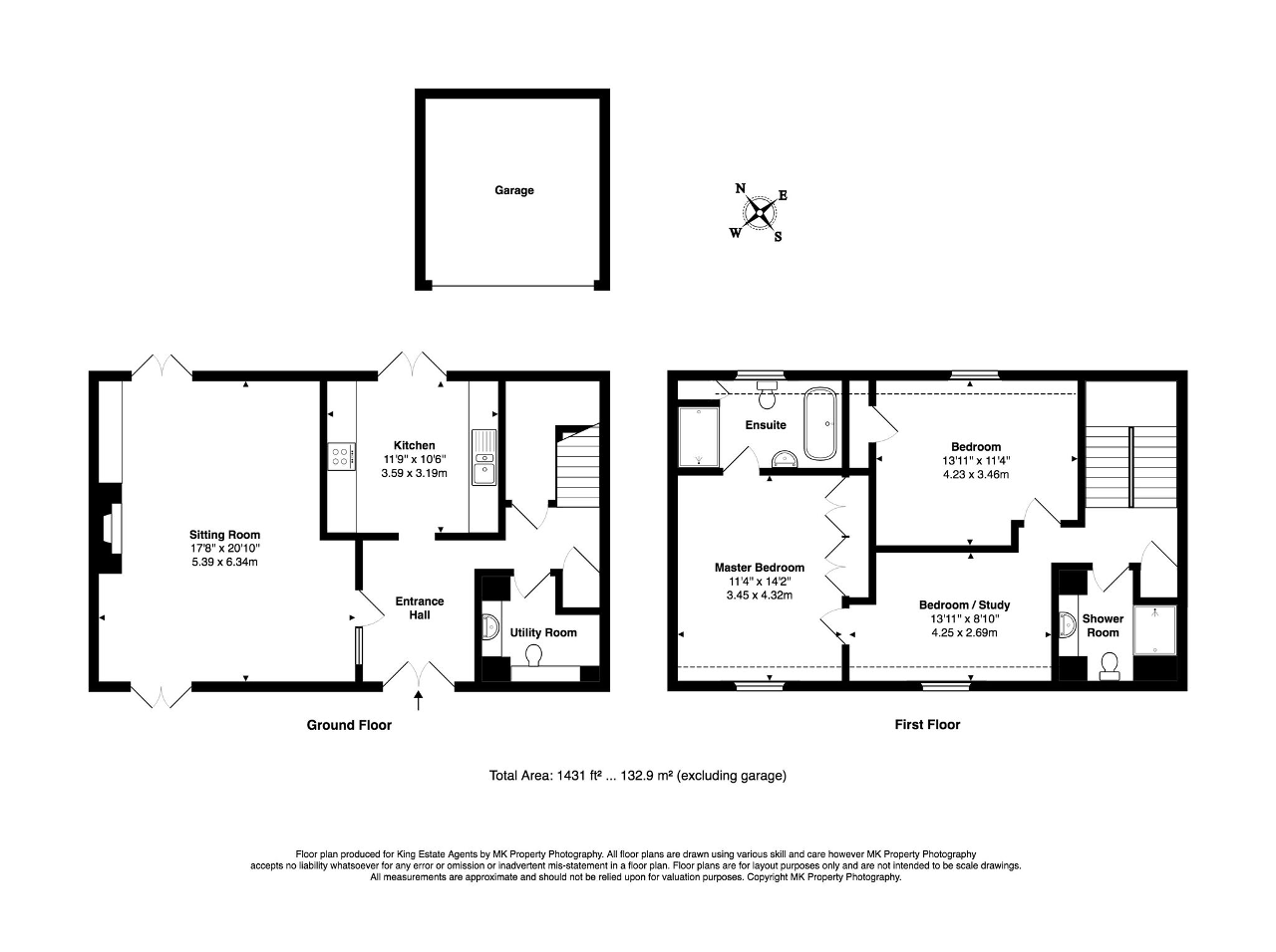 Floorplan for Gayhurst Court Mews, Gayhurst, Milton Keynes, Buckinghamshire, MK16 8LG