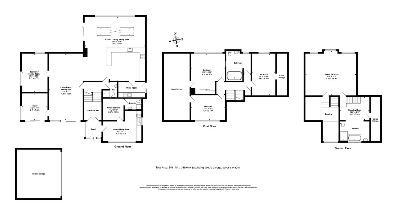 Floorplan for Silverbirches Lane, Aspley Heath, Milton Keynes, Bedfordshire, MK17 8TL
