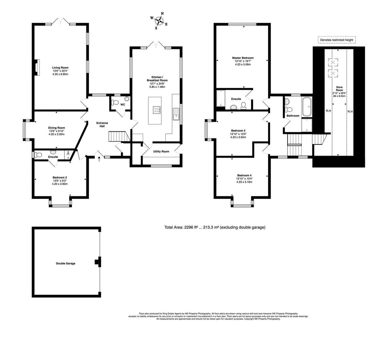 Floorplan for Crow Lane, Lower End, Wavendon, Milton Keynes, Buckinghamshire, MK17 8AR