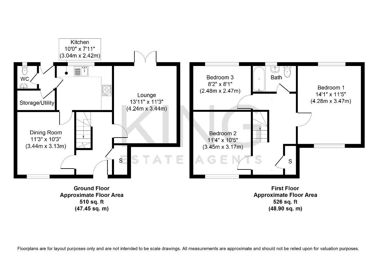 Floorplan for Manor Road, Bletchley, Milton Keynes, Buckinghamshire, MK2 2HW