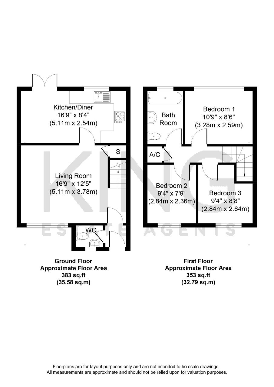 Floorplan for Hepleswell, Two Mile Ash, Milton Keynes, Buckinghamshire, MK8 8LU