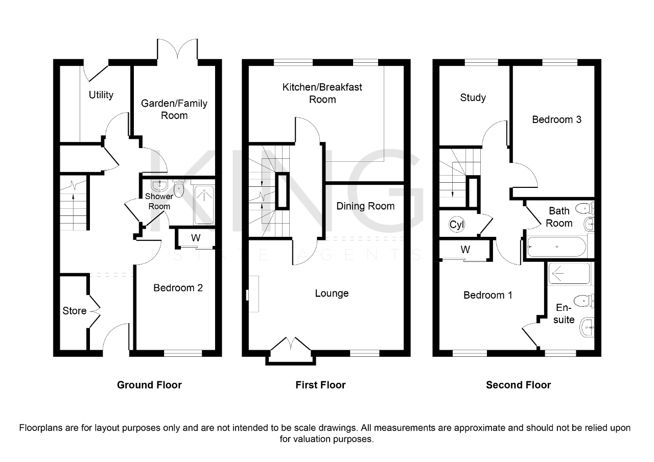 Floorplan for Wickstead Avenue, Grange Farm, Milton Keynes, Buckinghamshire, MK8 0NP