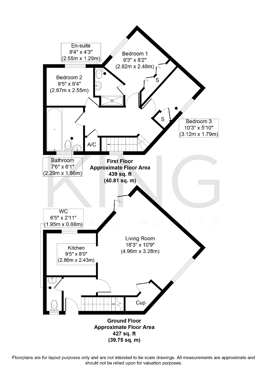 Floorplan for Saltwood Avenue, Kingsmead, Milton Keynes, Buckinghamshire, MK4 4ED
