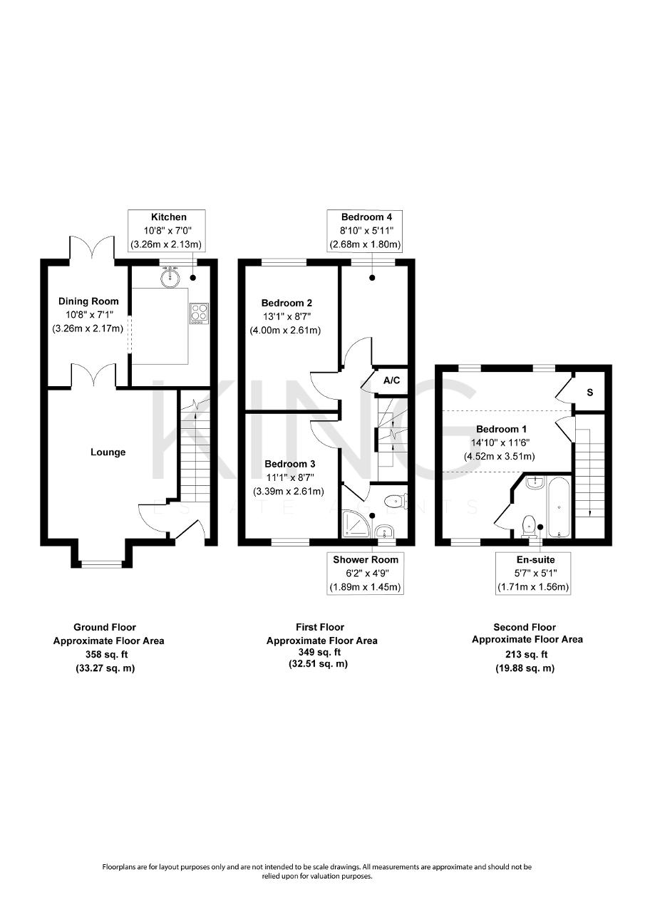 Floorplan for Birchen Lee, Emerson Valley, Milton Keynes, Buckinghamshire, MK4 2JX