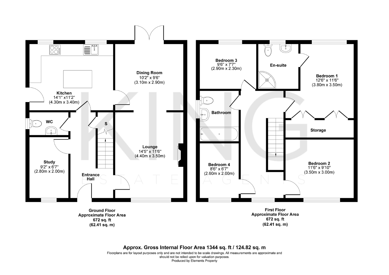 Floorplan for Willow Springs, Cranfield, Bedford, Bedfordshire, MK43 0DS