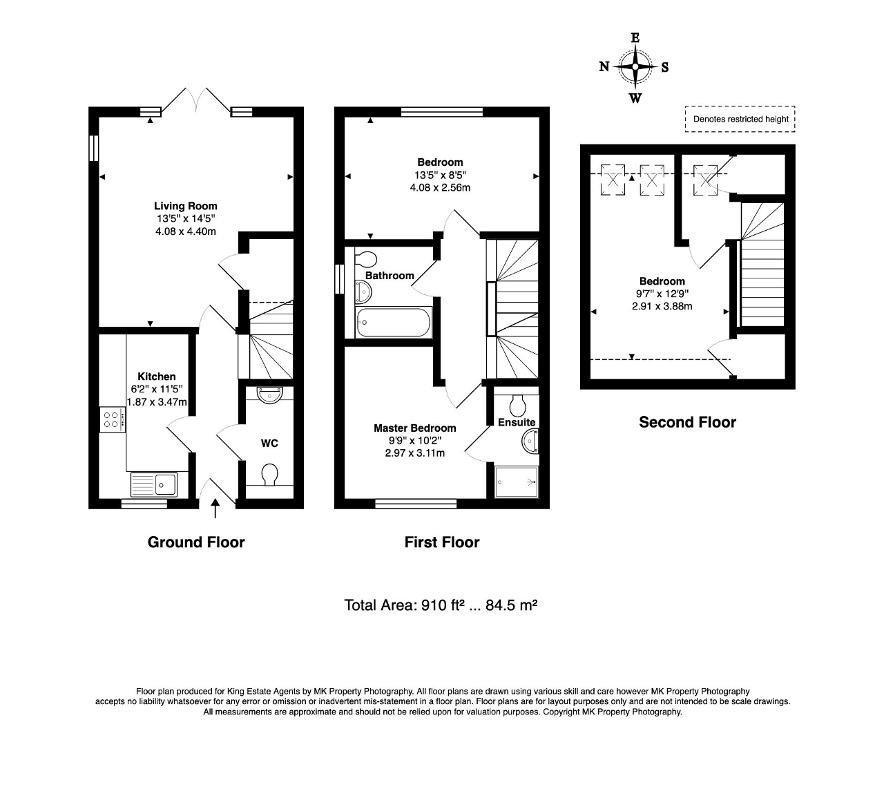 Floorplan for Mobbs Close, Olney, Buckinghamshire, MK46 4DZ