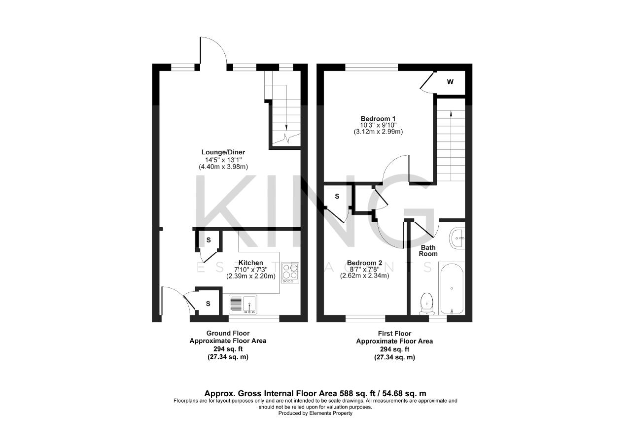 Floorplan for Downer Close, Buckingham, Buckinghamshire, MK18 7DD