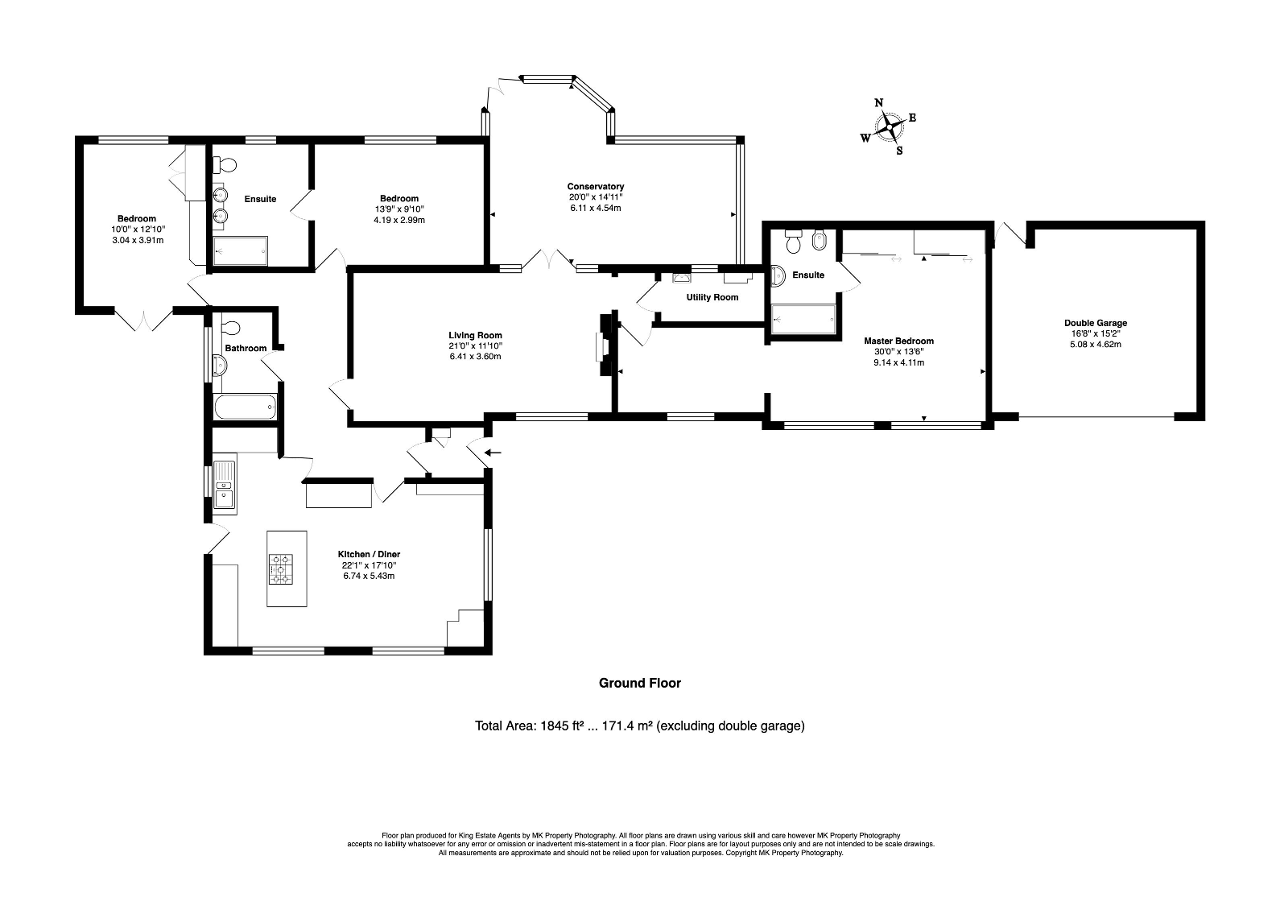 Floorplan for Wood End Road, Kempston Rural, Bedford, Bedfordshire, MK43 9BB