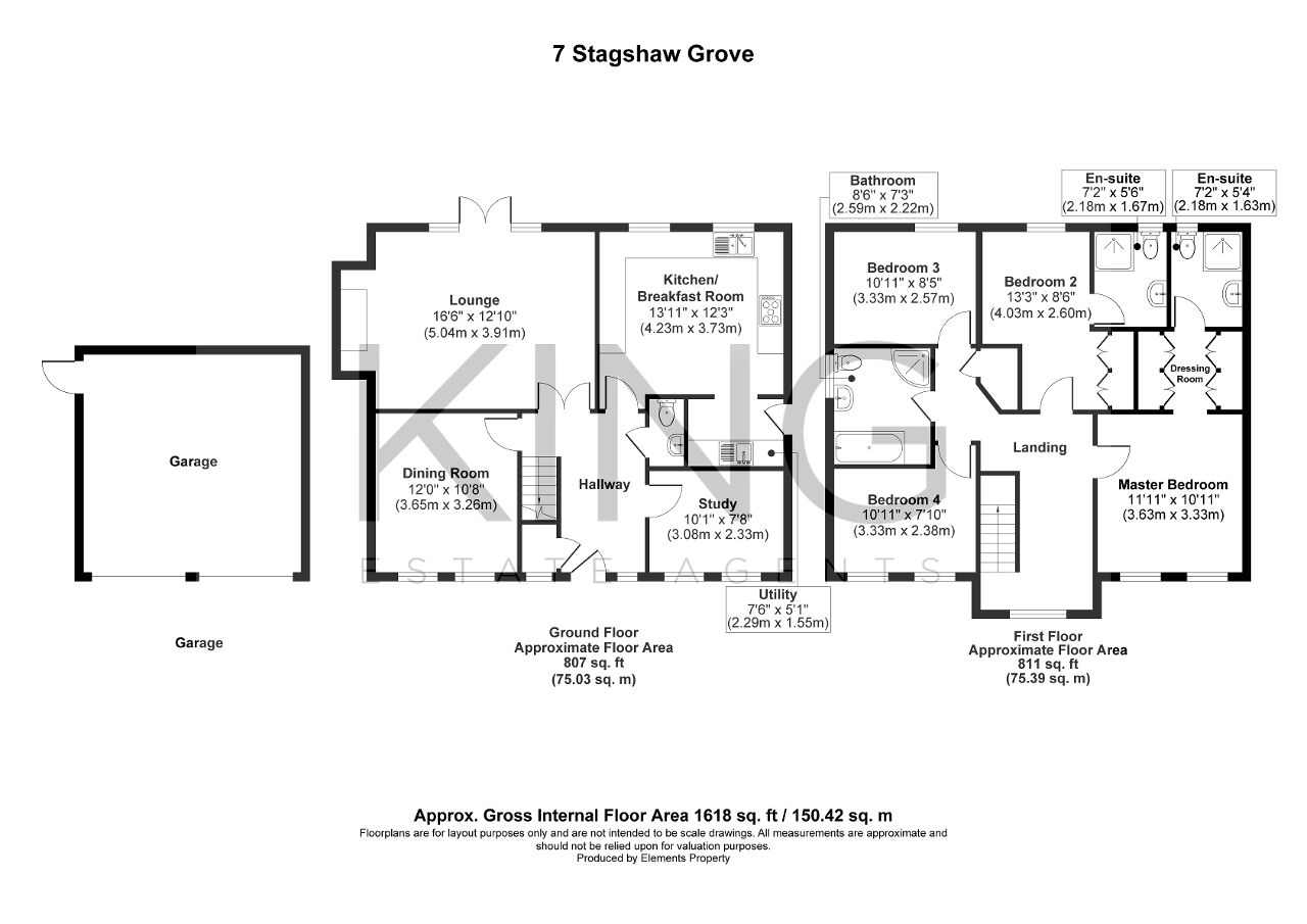 Floorplan for Stagshaw Grove, Emerson Valley, Milton Keynes, Buckinghamshire, MK4 2LN