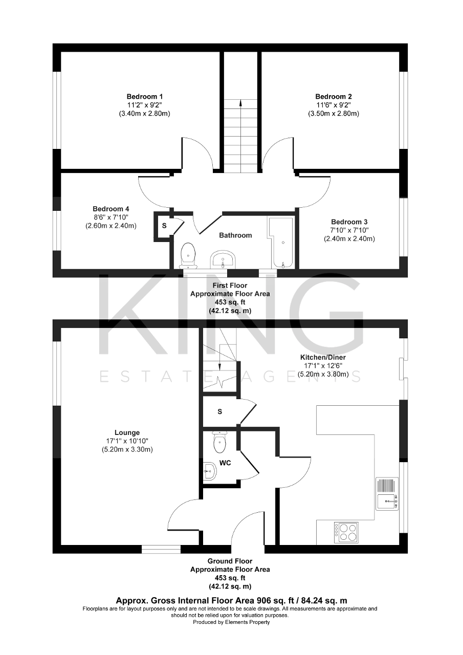 Floorplan for Bradwell Road, Bradville, Milton Keynes, Buckinghamshire, MK13 7DH