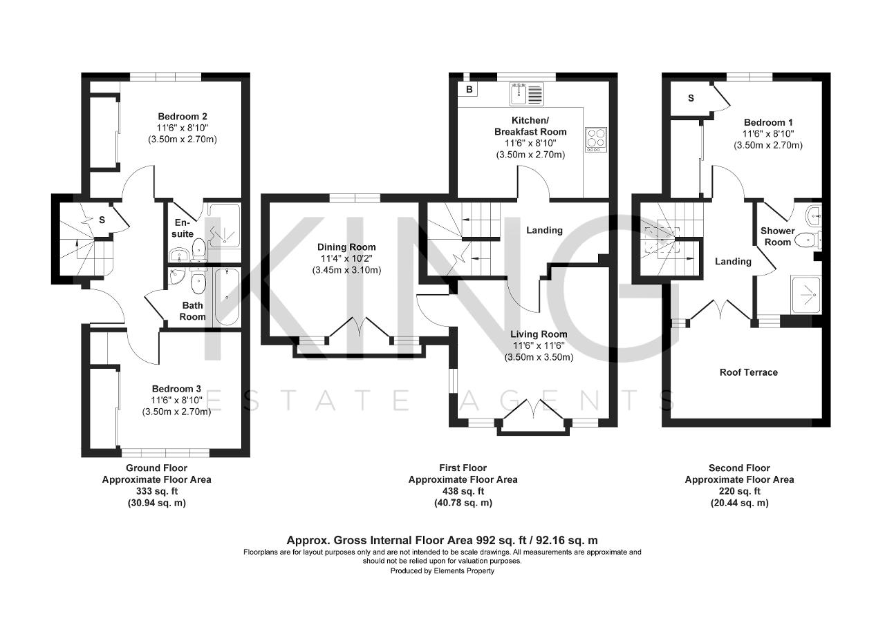 Floorplan for Agrippa Crescent, Fairfields, Milton Keynes, Buckinghamshire, MK11 4AY