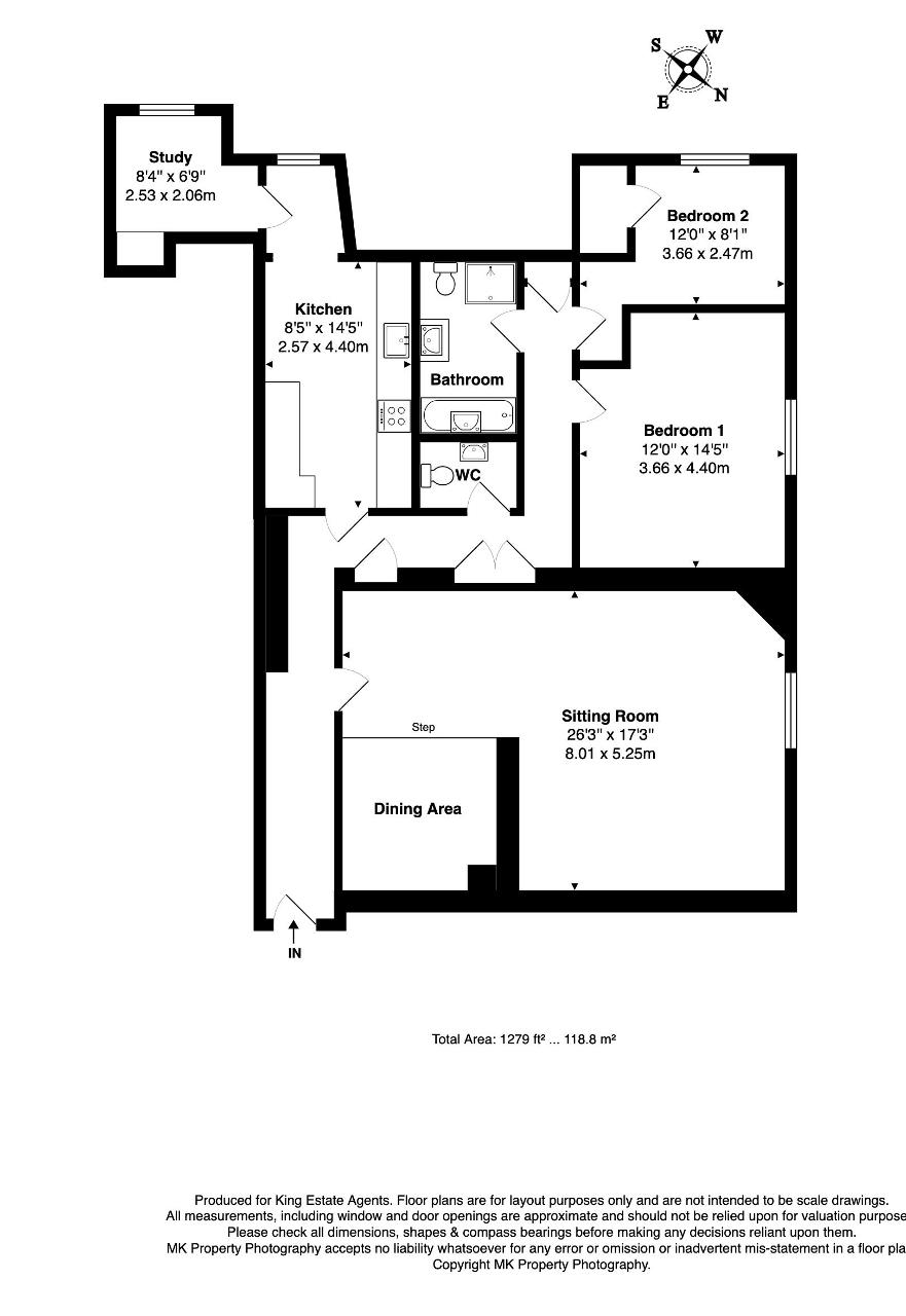 Floorplan for Gayhurst Court, Gayhurst, Newport Pagnell, Buckinghamshire, MK16 8LG