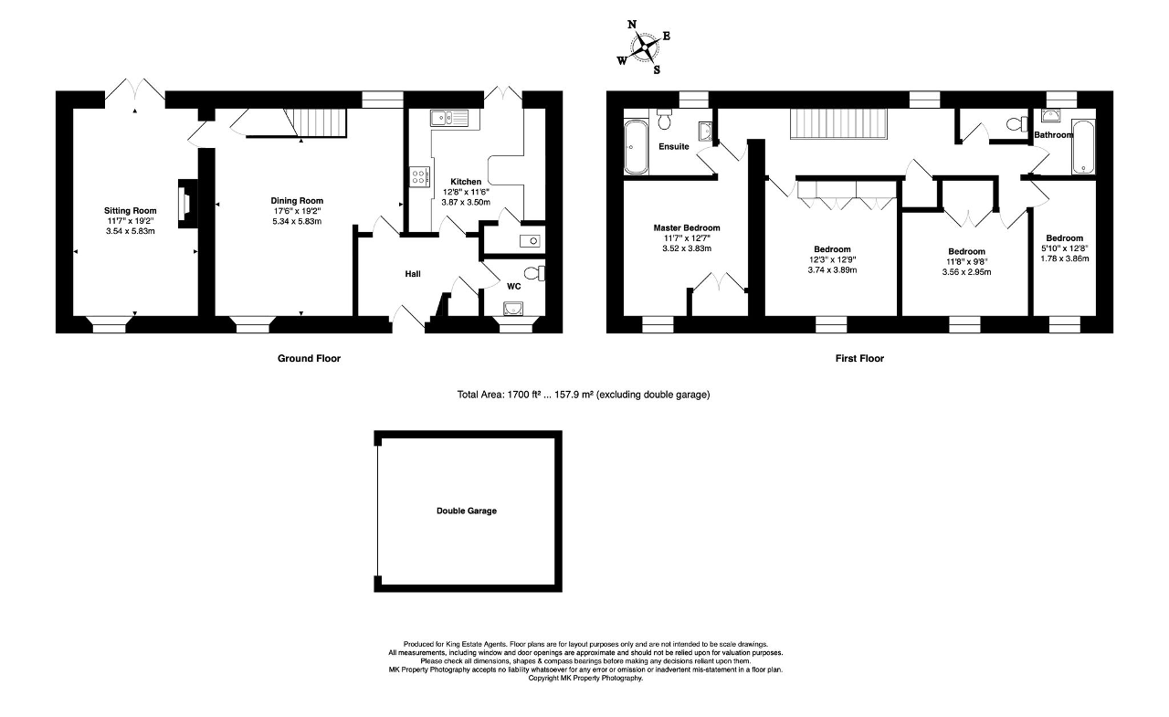 Floorplan for Gayhurst Court Mews, Gayhurst, Newport Pagnell, Buckinghamshire, MK16 8LG