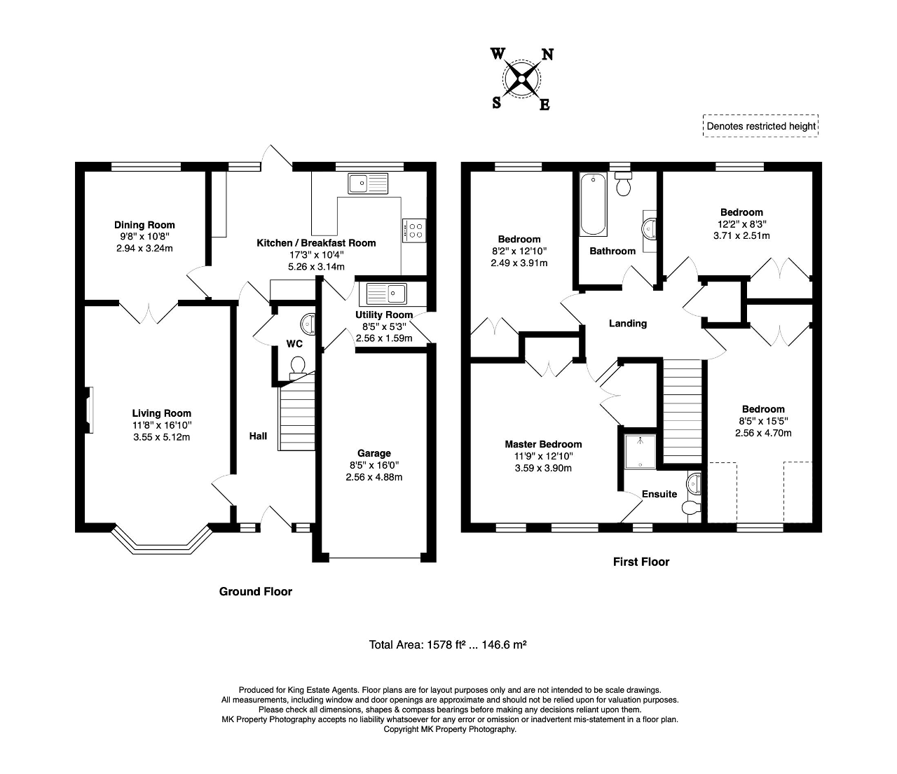 Floorplan for Lilly Hill, Olney, Buckinghamshire, MK46 5EZ