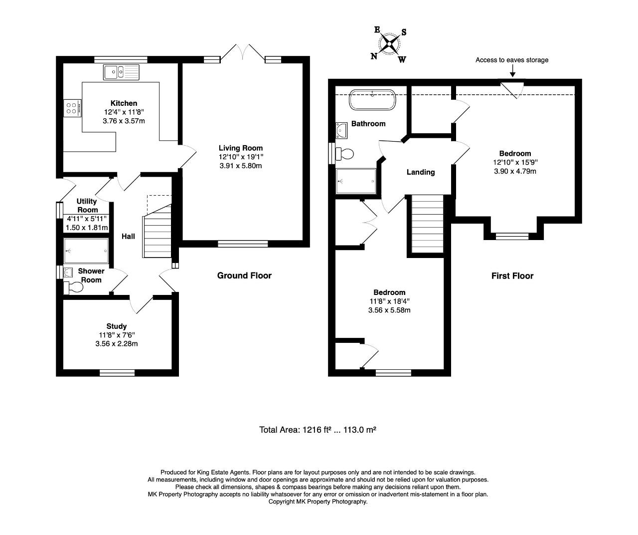 Floorplan for St. Matthews Court, Bletchley, Milton Keynes, Buckinghamshire, MK3 5PD