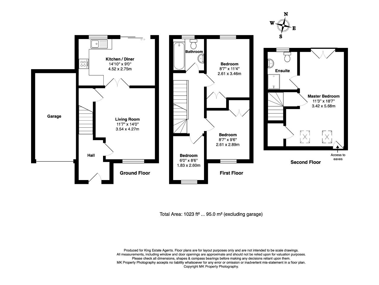 Floorplan for Lynmouth Crescent, Furzton, Milton Keynes, Buckinghamshire, MK4 1HH
