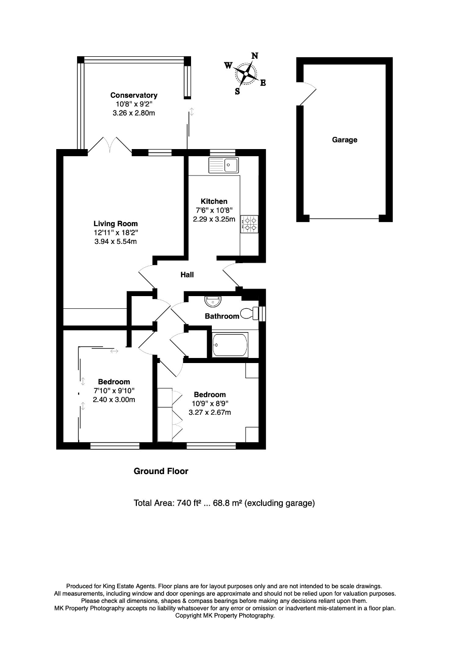 Floorplan for Deacon Place, Middleton, Milton Keynes, Buckinghamshire, MK10 9FS